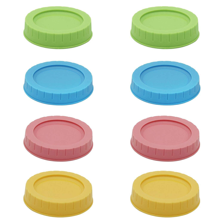 8pcs Pack Regular Mouth Mason Jar Lids for Ball & Kerr Mason Jar, Leak-proof Storage Caps for Mason/Canning Jars by TPFOON