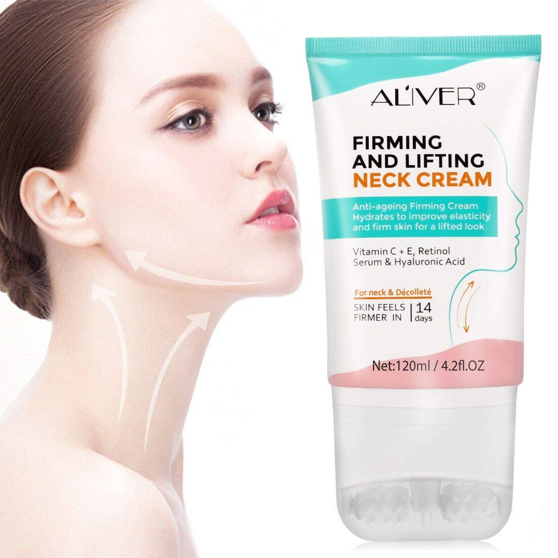 Aliver Neck Cream with Vitamin C E,Retinol Serum & Hyaluronic Acid
