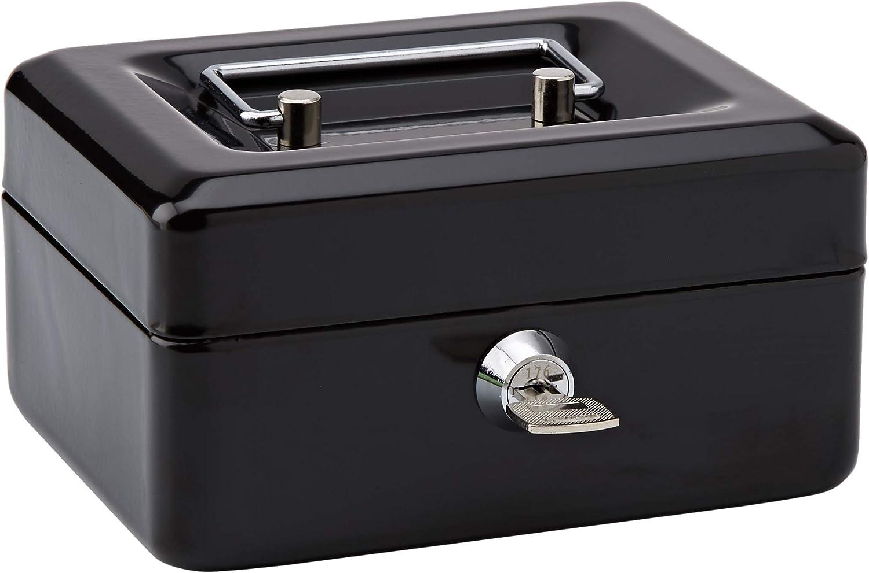 Rapesco SB0006B1 - Caja fuerte portátil con portamonedas interior, de 15 cm de ancho