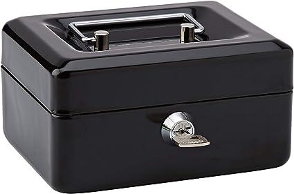 Rapesco SB0006B1 Caja fuerte portátil con portamonedas interior, de 15 cm de ancho: Amazon.es: Oficina y papelería