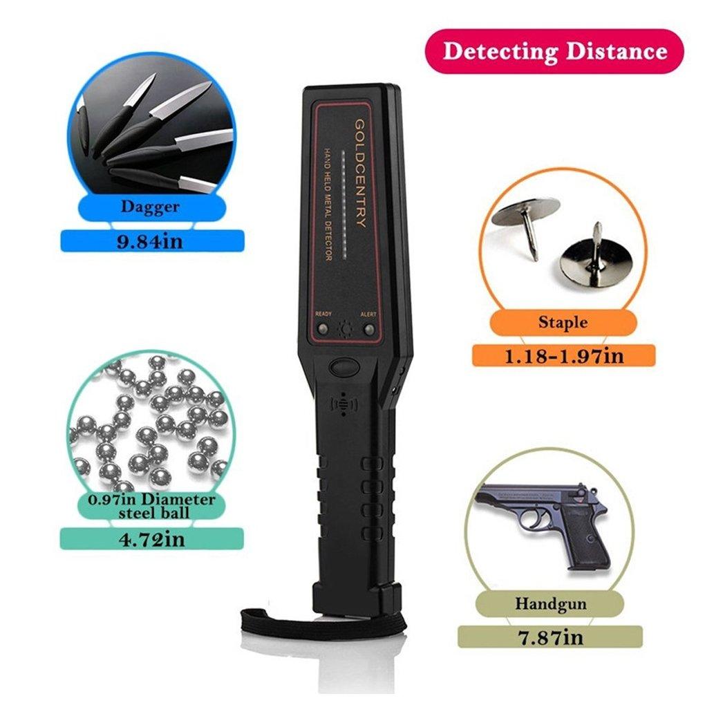 GC-1002 Detector de metales de mano de seguridad Instrumento de Inspección alta sensibilidad Security Scanner: Amazon.es: Bricolaje y herramientas