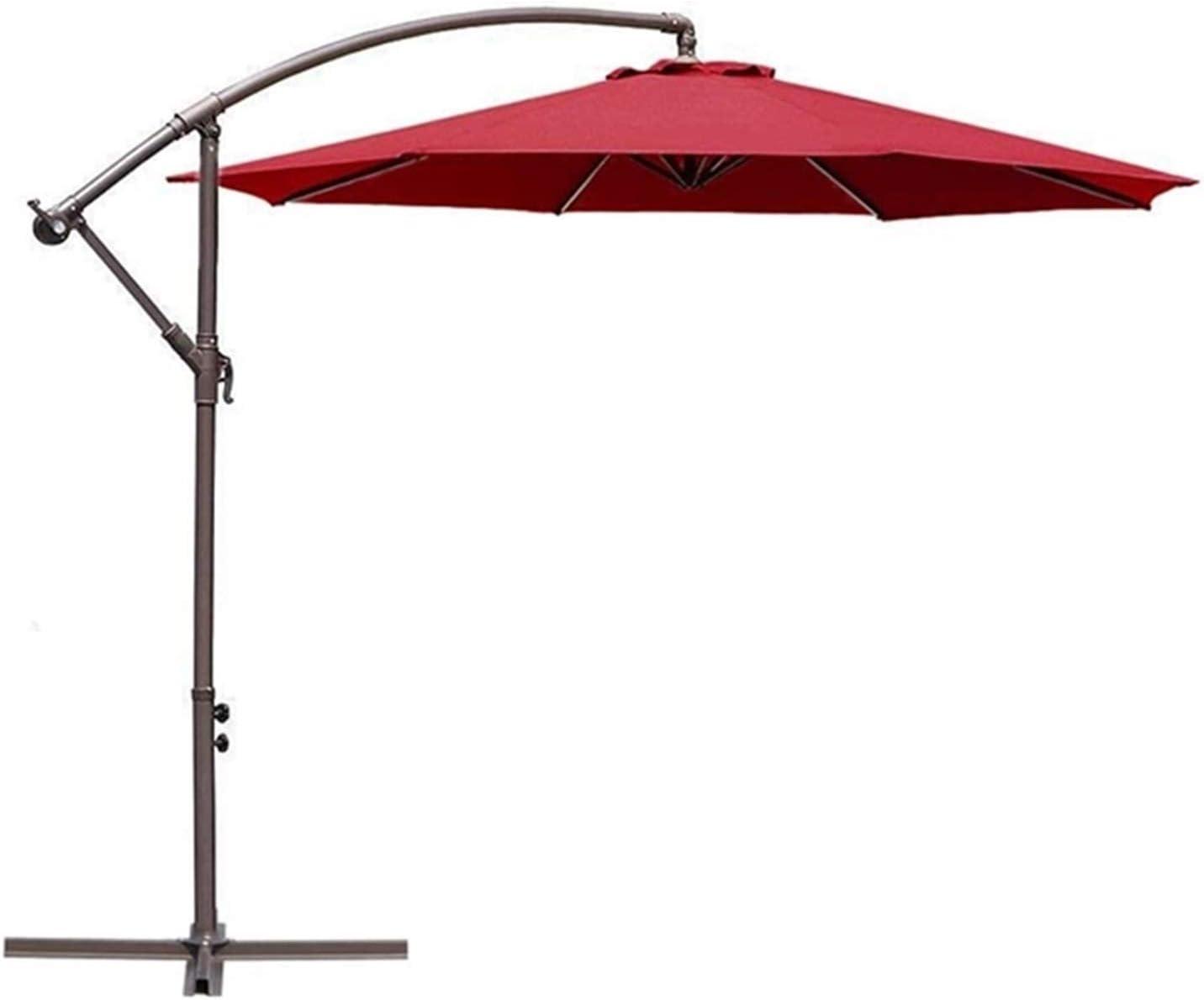 MMBBOD 300cm sombrillas terraza inclinable Parasol de Jardín, 3m Grande Sombrillas Patio con Manivela Protección Solar UV 50+, para Jardín Patio Playa Exterior