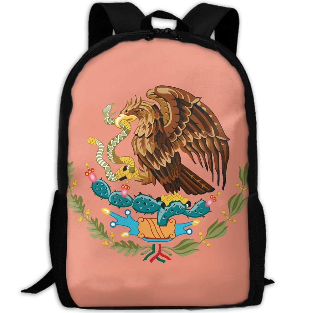 ZQBAAD Coat Of Arms Of Mexico Luxury Print Men And Women's Travel Knapsack