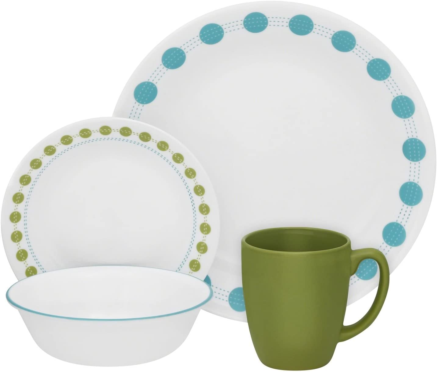 Corelle Livingware 38-Piece Dinnerware Set  sc 1 st  Amazon.com & Amazon.com: Dinnerware Sets: Home u0026 Kitchen
