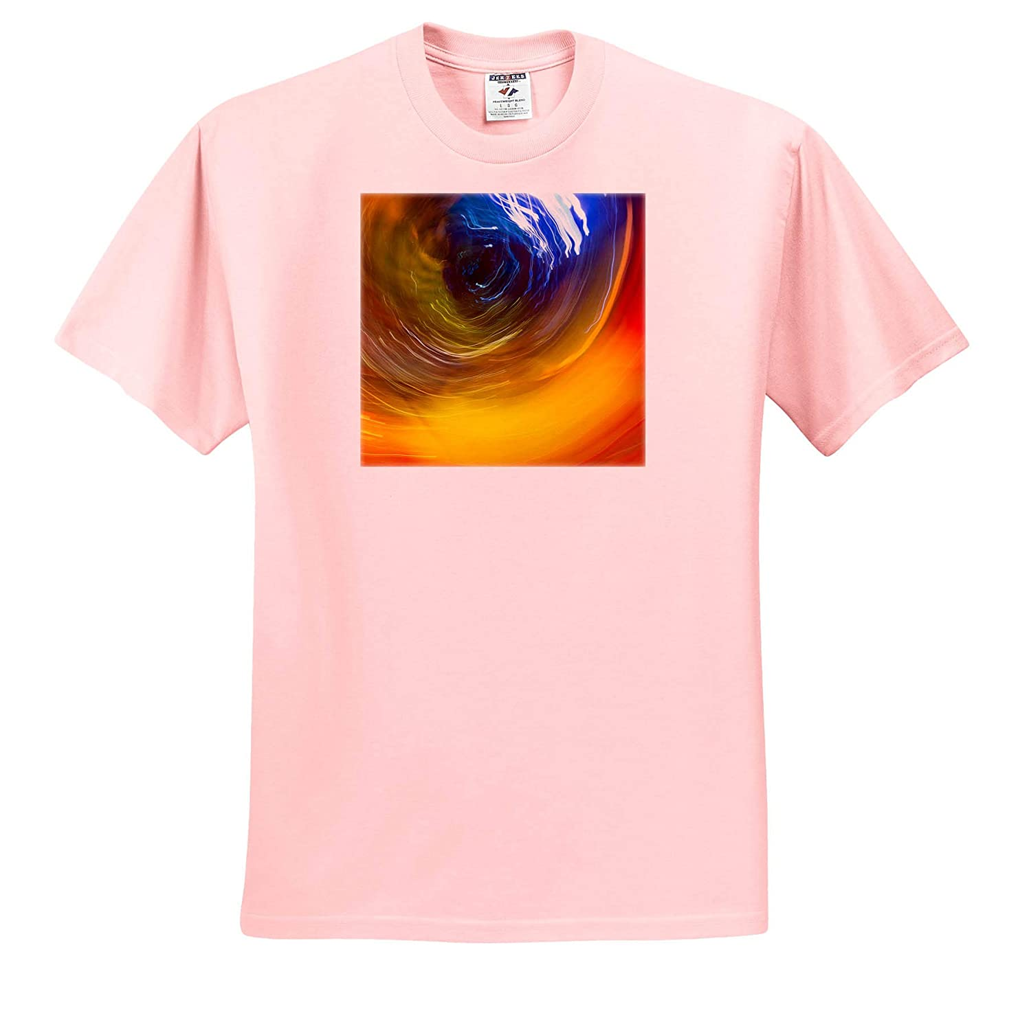 Adult T-Shirt XL Abstracts 3dRose Danita Delimont Colorful Glass with Blurred Motion ts/_315188
