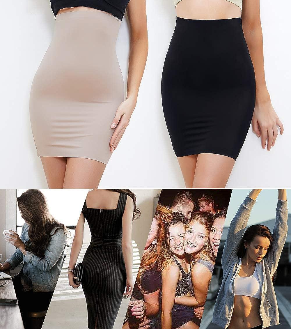 MISS MOLY Donna Modellante Sottoveste Snellente Sottogonna Vestito Shapewear