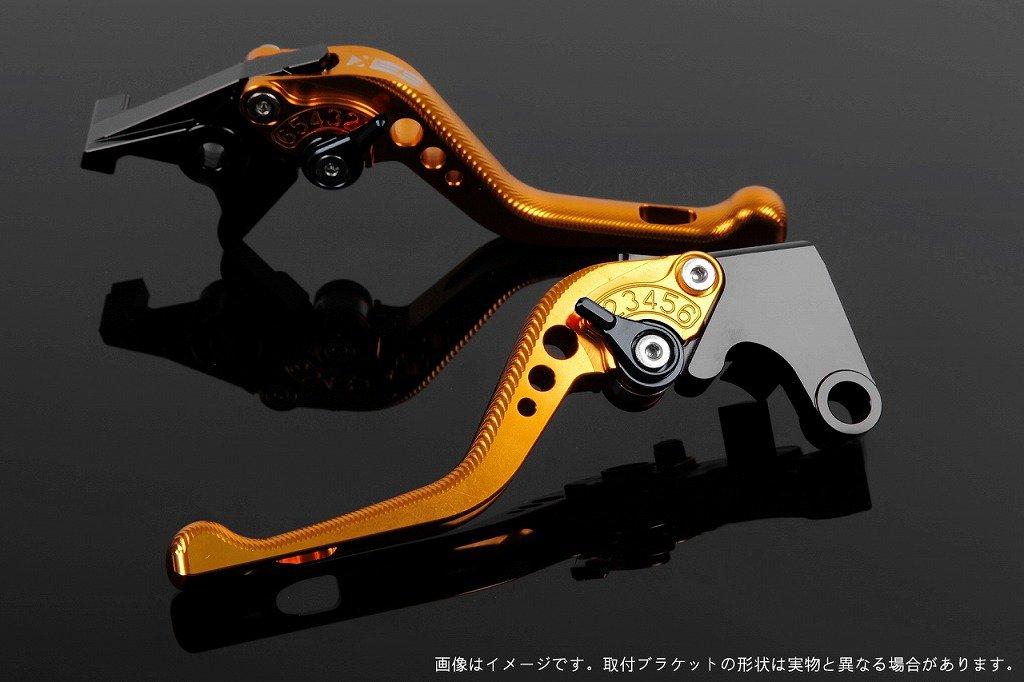 SSK アジャストレバー 3Dショート レバー本体カラー:ゴールド アジャスターカラー:ブラック CBR250RR MC51 2017-2018 HO0407055-BK B07MXBB5VK