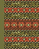 Journal: Tribal Pattern (Green) 8x10 - LINED JOURNAL - Journal with lined pages - (Diary, Notebook) (8x10 Patterns & Designs Lined Journal Series)