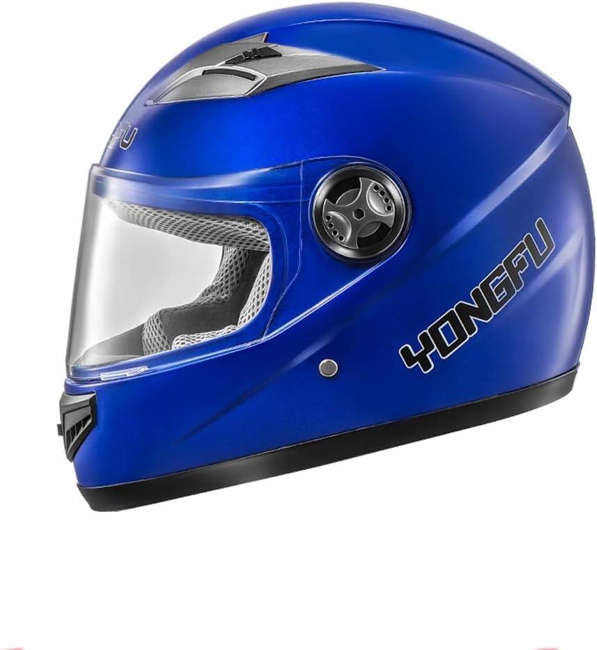電動バイク用ヘルメット、四季フルヘルメット、防曇フルカバーヘルメット、5色 (Color : 紫の)