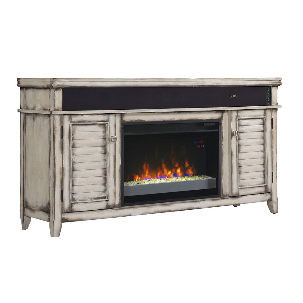 Classicflame Simmons Electric Fireplace Entertainment Center In Wiring Diagram Country White 26mms8529 T478 Home Kitchen