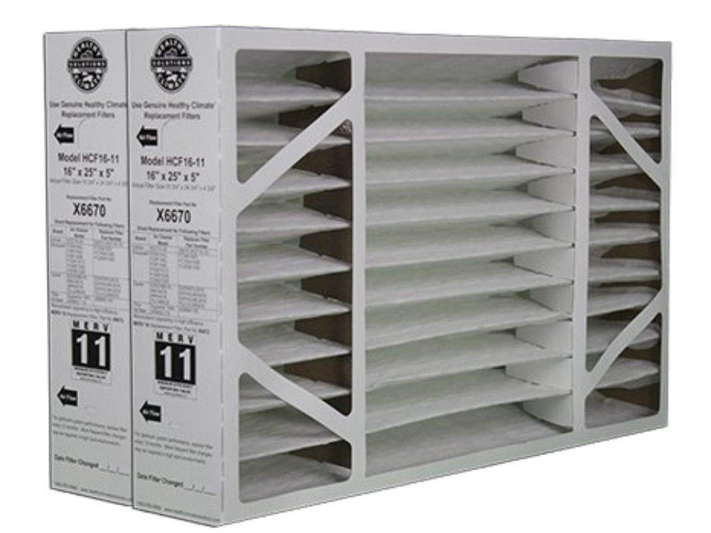 2 Pack of X6670 Lennox OEM Merv 11 Filter Media 16''X25''X5'' Fits X6660 HCC16-28 Genuine Lennox X6670 by Lennox