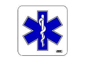 EMT EMS PAramedic Drink Coaster Set Gift Home Kitchen Bar Barware Star of Life
