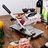 Meats Slicer, Frozen Meat Slicer, Beef Mutton Stainless Steel Slicer Cutter Manual Stainless Steel for Home and Kitchen
