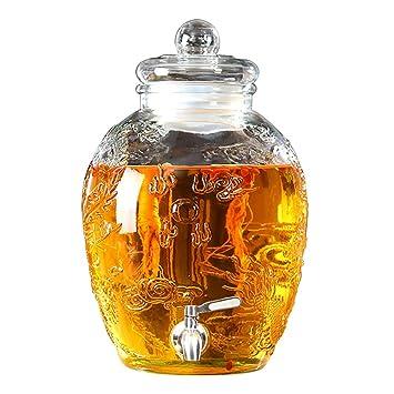 Dispensador De Bebidas Y Tapa De Vidrio Mason Jar- Espita Libre De ...