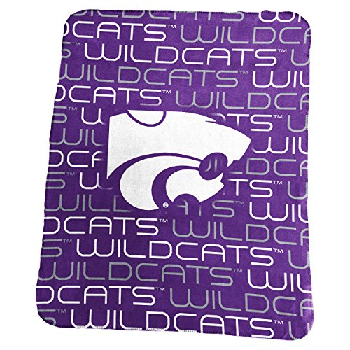 NCAA Kansas State Wildcats Classic Fleece, One Size, (Kansas State Blanket)