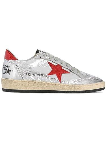 Golden Goose Damen G33WS592H2 Silber Leder Sneakers  Amazon.de ... dd84aa5cb3