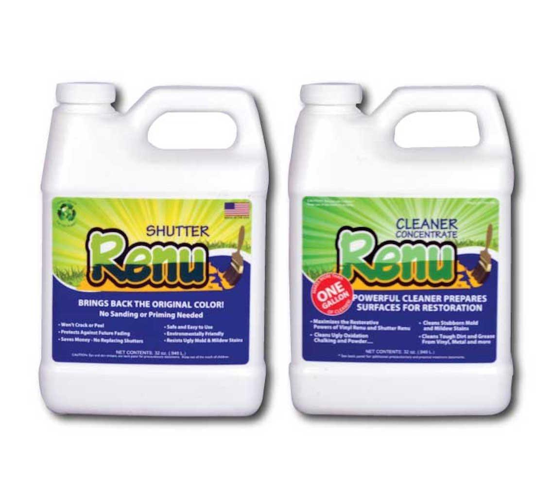 Shutter Renu 12-18 Shutter Kit-Shutter Cleaner And Restorer-Restores Original Color & Sheen To Faded Shutters,Plastics,Metal,Fiberglass & More. Eco Friendly. 5X More Powerful Than Any Other Restorer