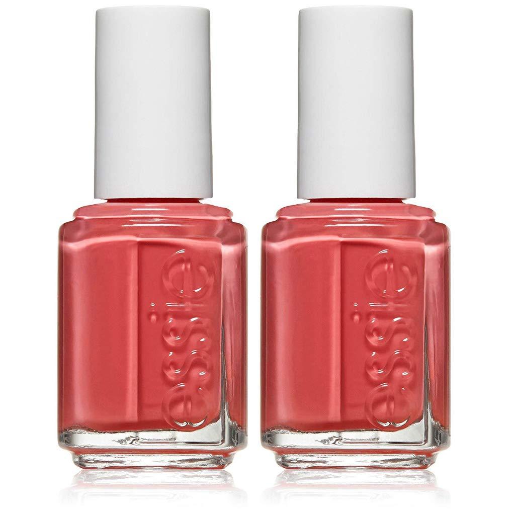 essie nail polish, cute as a button, coral nail polish, 0.46 fl. oz., 2 count by essie