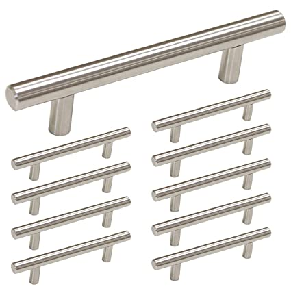 Homdiy 3 5 Inch Cabinet Pulls Brushed Nickel 10 Pack Hd201sn Modern Cabinet Handles Brushed Nickel Cabinet Hardware Pulls Brushed Nickel Drawer