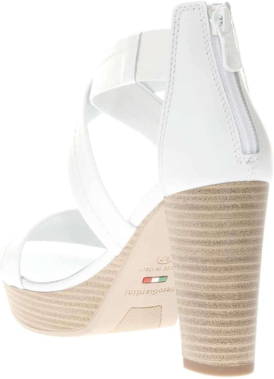 Nero Giardini P908081D Sandalo Tacco Argento/Bianco - Primavera Estate Bianco