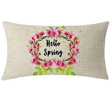 Amazon.com: NIDITW - Funda de cojín de lino y algodón con ...