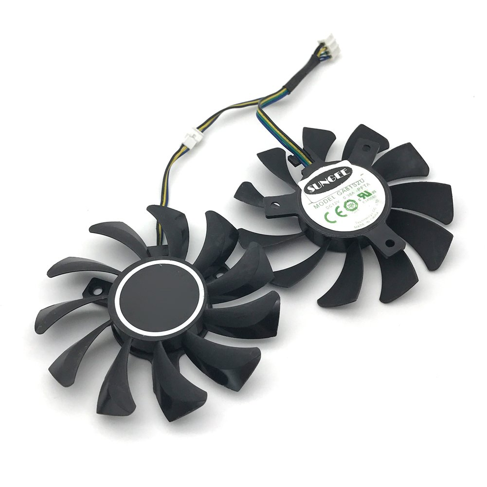 2Pcs/Lot 75mm GA81S2U DC 12V 0.38A 4Pin Dual Cooler Fan 40x40x40MM For ZOTAC Graphics Video Card Fans by Sungee (Image #3)