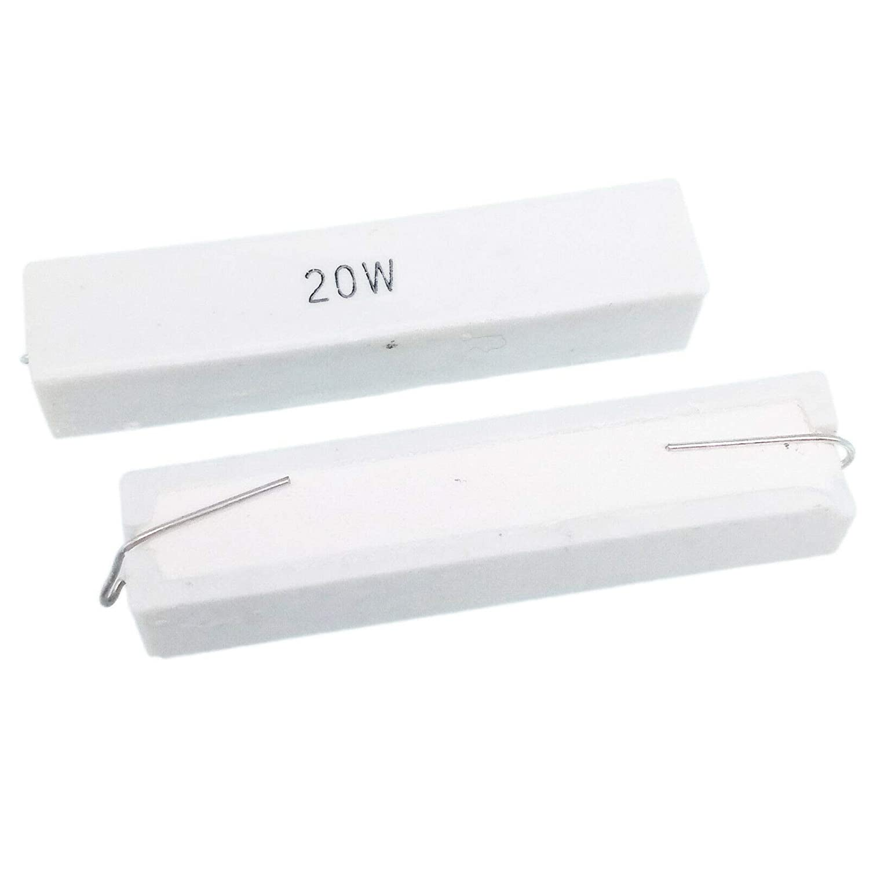 US Stock 2pcs 200 ohm 200R?J 20 watt Axial Ceramic Cement Power Resistor 20W