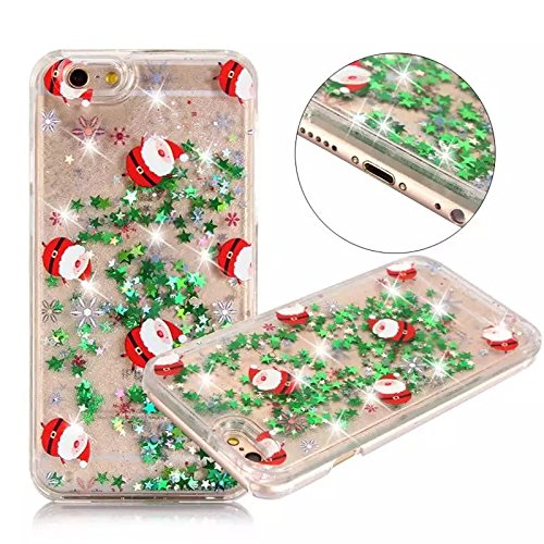Price comparison product image iPhone 6s Plus case,iphone 6 Plus case, liujie Liquid, Cool Quicksand Moving Stars Bling Glitter Floating Dynamic Flowing Case Liquid Cover for Iphone 6 Plus 5.5 inch(Christmas 11#)