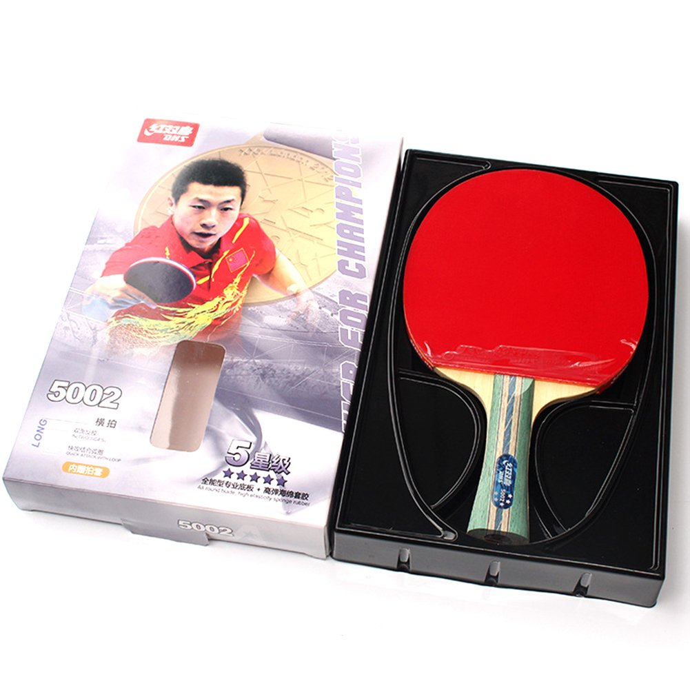 Amazon.com   DHS 5-Star Table Tennis Racket Ping Pong Paddle Inverted  Rubber Double Pimples-in Bats   Sports   Outdoors 00f870132a271