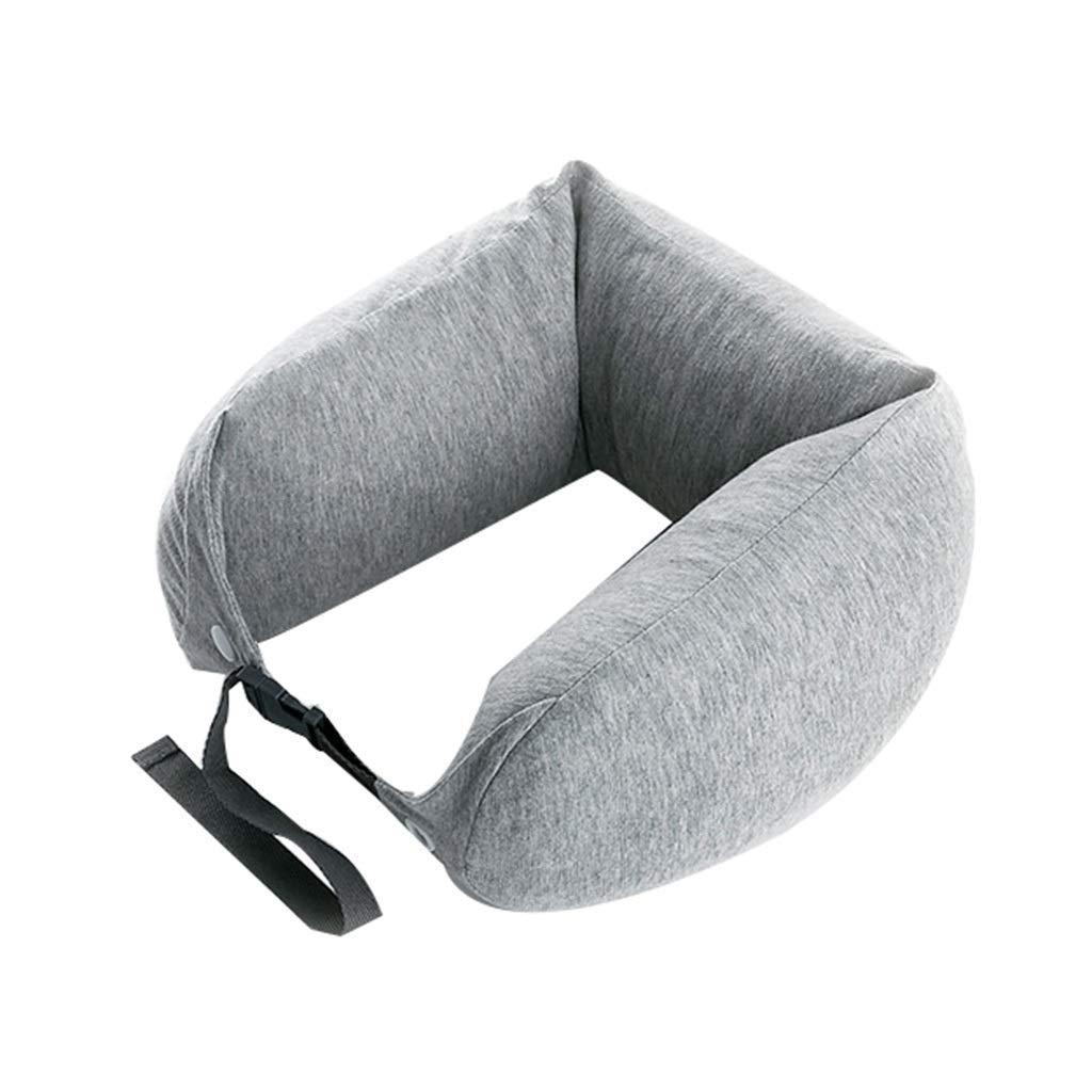 U字型枕ネック枕ラテックス枕航空機旅行車のヘッドレスト高弾性通気性ソフトコンフォート枕 B07S2482X1