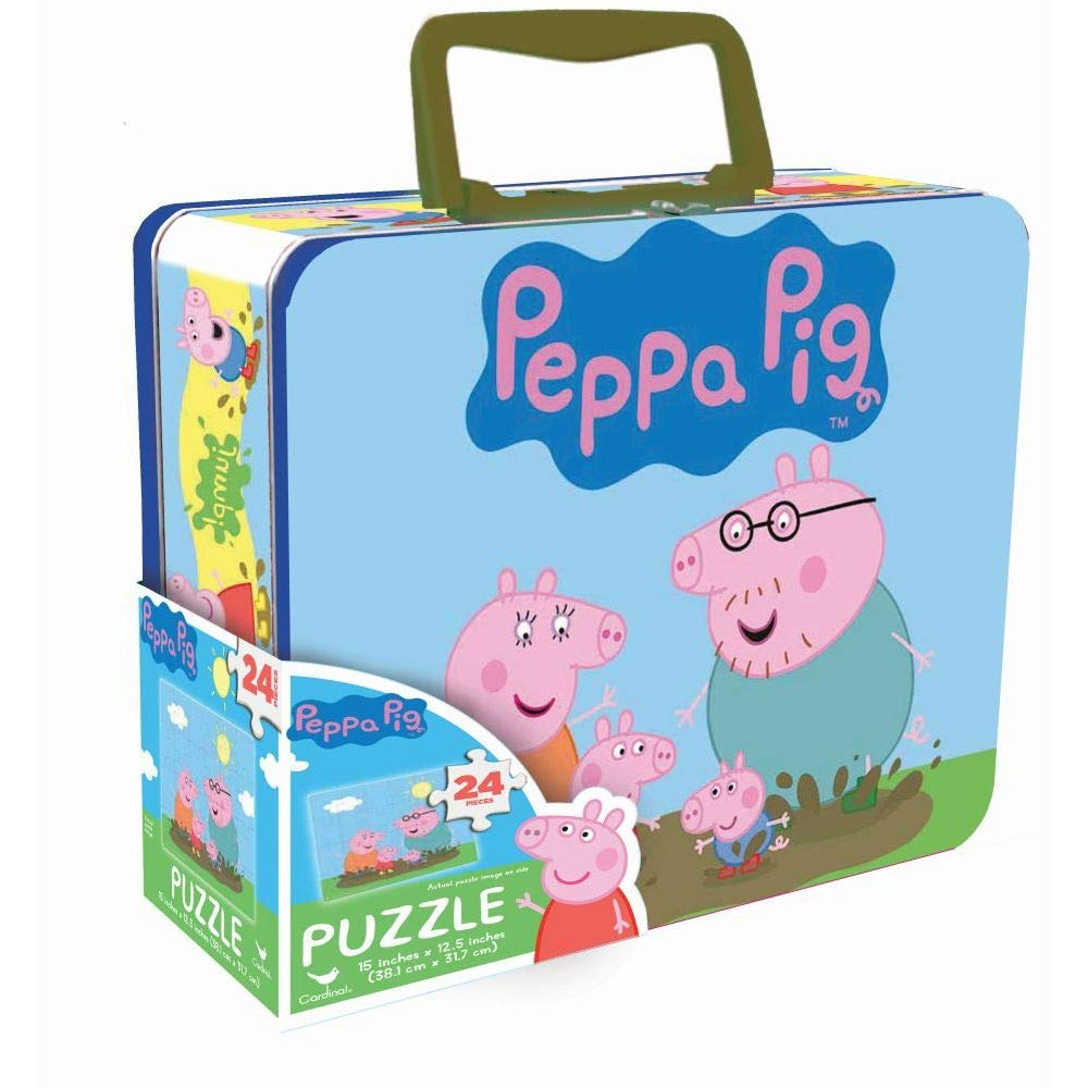 Peppa Pig 24-Piece Puzzle in Tin Lunch Box (Units per case: 12)