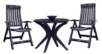 Steiner 3 pièces meubles de jardin 85 cm x ø bERLIN mARINA lot de 2 ...