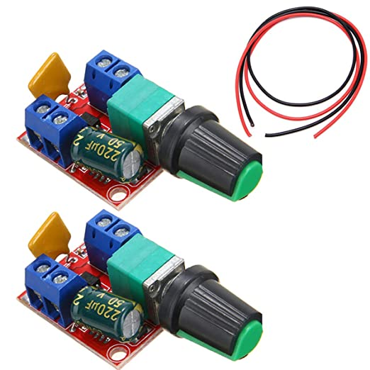 Youmile Pack Of 2 5 A Motor Speed Controller Module Mini Dc Motor Pwm Speed Controller Switch Controller Switch Led Dimmer 3 V 6 V 12 V 24 V 35 V Max 90 W Business Industry Science