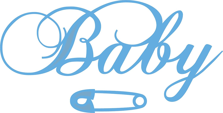 Marianne Design Creatables Troqueles con dise/ño Baby Texto Metal Azul 20 x 9 x 0,5 cm Eline