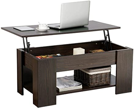 Amazoncom Yaheetech Lift Top Coffee Table With Hidden