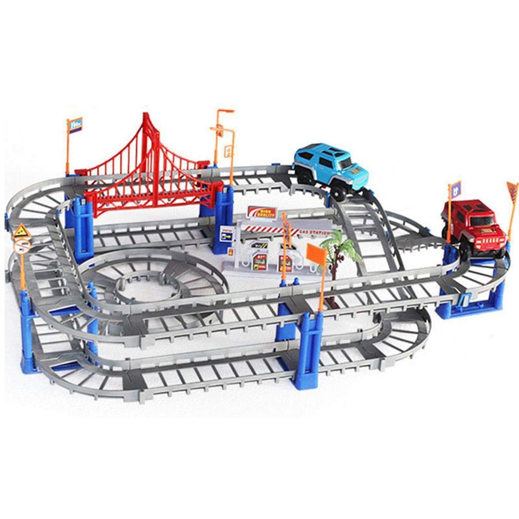 Miuniu Durable Children DIY Electric Rail Car Set Assembling Toys Educational Toy Blocks