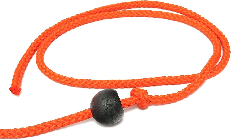 Mystique/® Nylon Feldleine rund 7mm neon orange Standard Karabiner