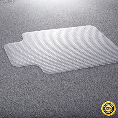 COLIBROX--PVC Home Office Chair Floor Mat Studded Back with Lip for Standard Pile Carpet,office depot chair mat,bamboo chair mat,plastic carpet mat,carpet chair mats,office floor mats for carpet