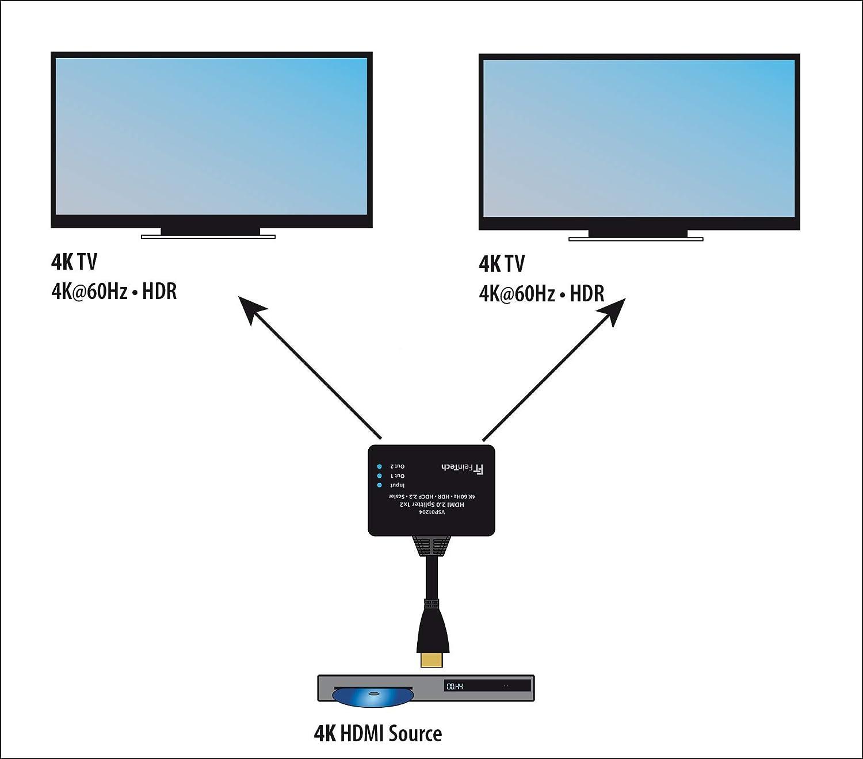 FeinTech VSP9 HDMI Splitter Ultra HD 9K 9Hz HDR mit Scaler
