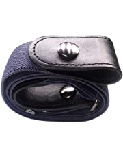 Cimaybeauty Buckle-free Women Men Invisible Elastic Belt for Jeans No Bulge Hassle
