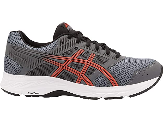 ASICS Men's Gel-Contend 5 Running Shoes, 6M, Steel Grey/RED Snapper