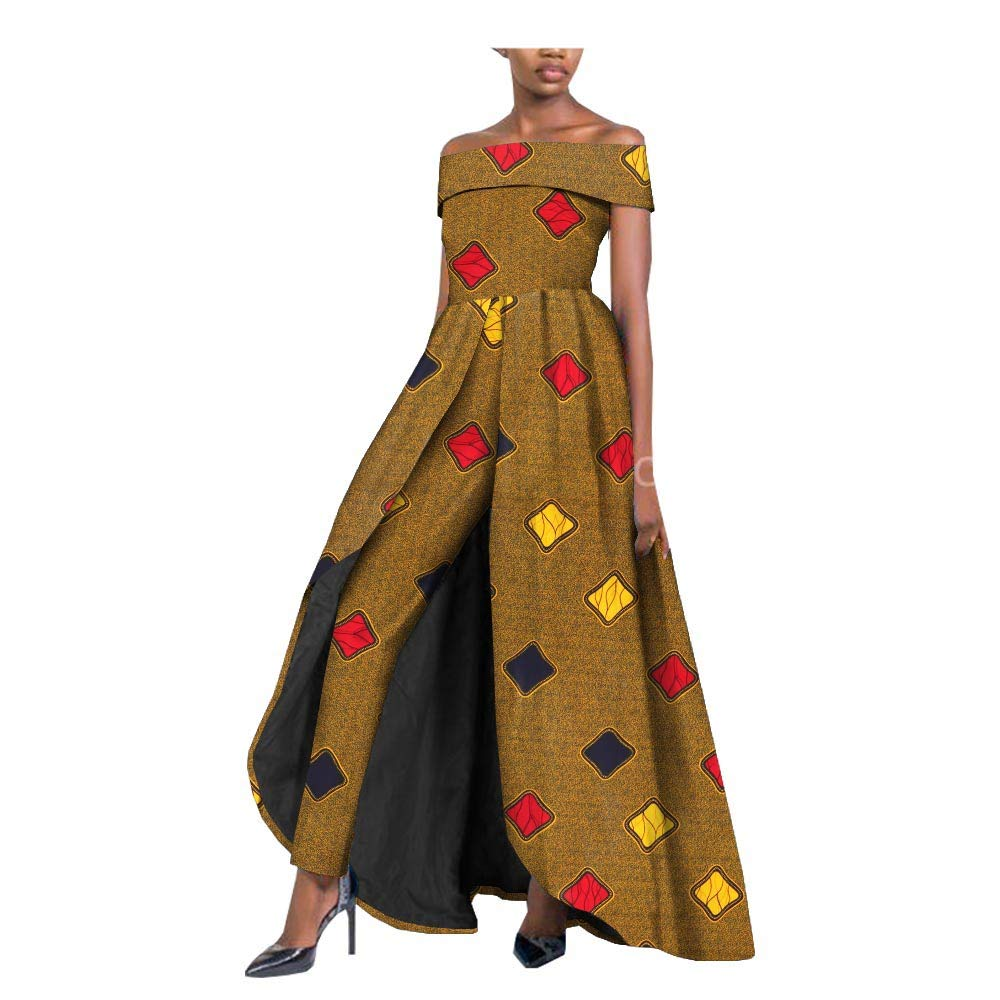 360 private afripride African Dresses for Women Long Splits Dress+Long Ankara Pants TwoPiece Suits for Lady Dashiki Plus Size