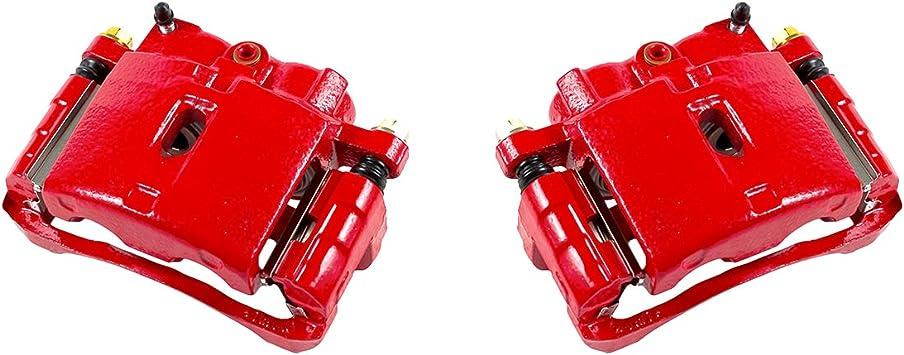 Performance Grade Red Powder Coated Semi-Loaded Caliper Assembly Pair Set CK00969 2