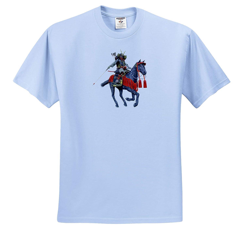 T-Shirts Japanese Samurai Warrior on Horseback with Bow and Arrow Facing Left 3dRose Boehm Graphics Japan