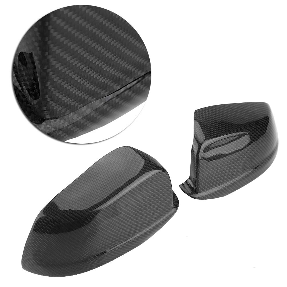 KIMISS 1 Pair of Carbon Fiber Rear View Mirror Cover for BMW 5 Series F10/F11/F18 Pre-LCI 11-13 by KIMISS (Image #8)