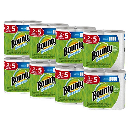 Bounty Quick-Size Paper Towels 16 Family Rolls Only $30.84