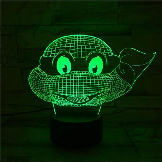 Luz de noche de ilusión 3d Tortuga Ninja Mutante Adolescente ...