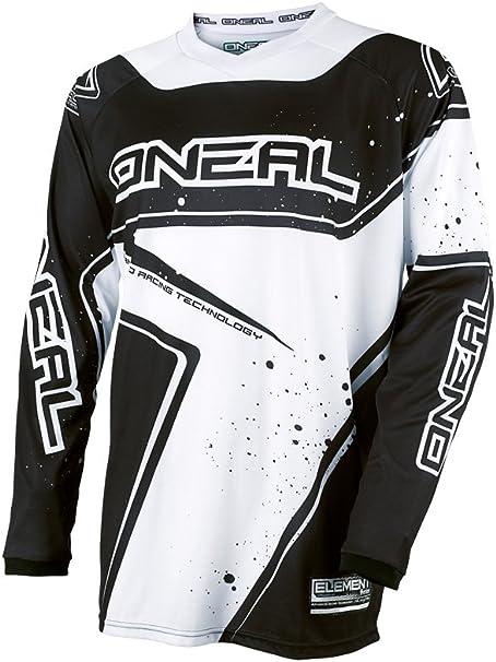 O Neal Element Fr Youth Kinder Jersey Trikot Lang Racewear Schwarz Weiß 2017 Oneal Größe L 140 152 Bekleidung