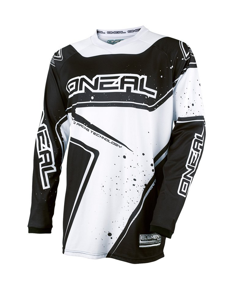 O'Neal Yth Element Unisex-Child Racewear Jersey (Black/White, Large)