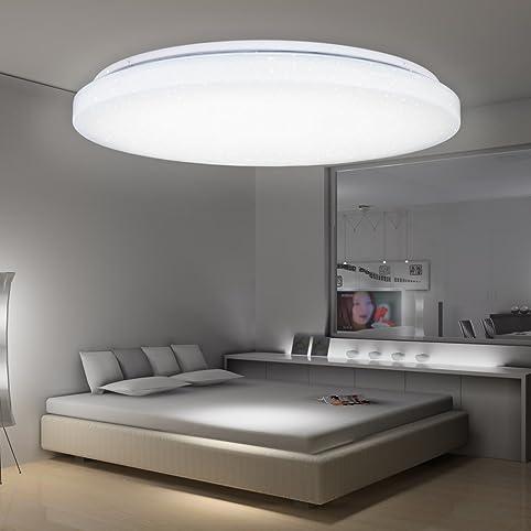 VINGO W LED Starlight Effekt Deckenleuchte Schön Rund Korridor - Badezimmer deckenlampen led